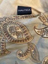 VINTAGE Nautica Comforter Tan brown  Floral Paisley Reversible soft