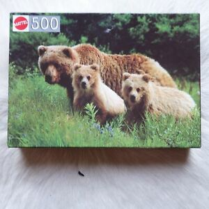 Mattel BEAR AND CUBS 500 Piece Puzzle ANIMALS Nature FAMILY