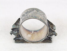 ANTIQUE VICTORIAN SILVER PLATE MERIDEN & ROGERS NAPKIN RING #146  DOVES