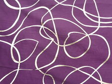 Polyester Taffeta with foil 'Dubai', Purple, (per metre) cushions, curtains,