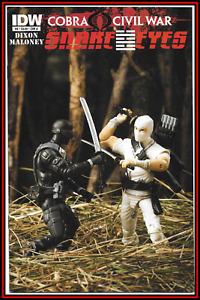 SNAKE EYES #8 (2011) STORM SHADOW TOY PHOTO COVER GI JOE COBRA CIVIL WAR IDW NM