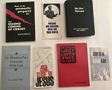 Vintage ORAL ROBERTS 1967 to 1970 tracts books Bible Evangelical religion Tulsa
