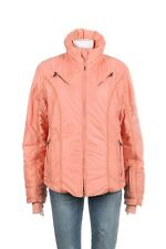 A DIAMOND IN THE SNOW Jacket 10 Pink Peach Puffer Tiger Embellished Ski Coat