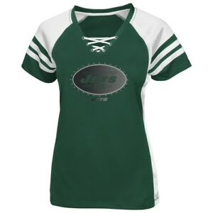 New York Jets Women's Majestic NFL Draft Me VII Jersey Top Shirt - Green