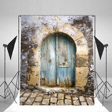 5x7 Old Door Brick Wall Vinyl Prop Backdrops Photography Background Photo Studio