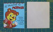 Vintage Valentine Mother Card Barker Bear I Love You Pop Up Arms Die Cut Out