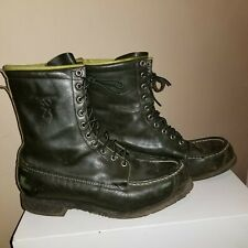 Vintage BROWNING Kangaroo Featherweight Green Leather USA Boots # 3540*Mens 10D