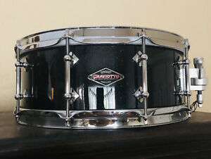 Craviotto Drums 2011 Signed 5.25 X 14 Solid Maple Snare Drum Black Sparkle Laqr