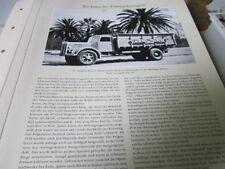 """Nutzfahrzeug Archiv 2 Entwicklung 2360 20"""" Simplex Rad an Saurer Diesel 30er"""