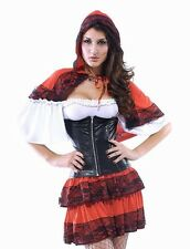 Femme sexy loup appât petit chaperon rouge conte de fée costume robe fantaisie