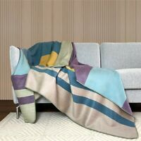 Soft & Warm Reversible Alpaca wool Throw Blanket Queen double-sided 94 x 62 in