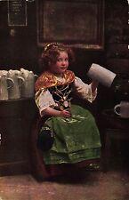 Mädchen mit Bierkrügen, Verlag Ottmar Zieher, München, um 1910/20