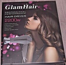 Professional Performance Hair Dryer 2200w Glam Hair Free UK Postage Brand New!