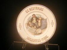 Denmark WWI 1914 Anti Goulash Barons Plate RARE!! War Profitteers Exporters Look