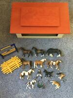Schleich Barn, Horses and More! retired!