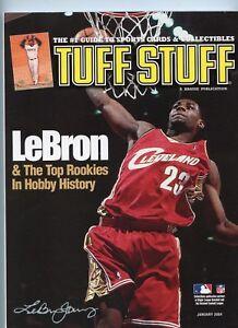 January 2004 Tuff Stuff Magazine -- Lebron James front cover