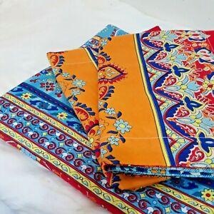 Marrakesh Full/Queen Flat Sheet Top Sheet Decorative Bedding w 2 Pillow Shams