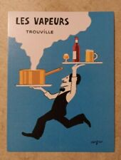 carte postale publicitaire Raymond SAVIGNAC 1988 Brasserie Les Vapeurs Trouville