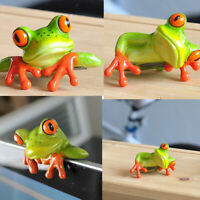 Resin Creative 3D Craft Frog Decoration Office Desk Computer Sticker Decor