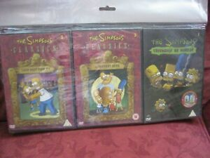THE SIMPSONS DVD'S X 3 TREEHOUSE OF HORROR AND CLASSICS NEW IN CASES