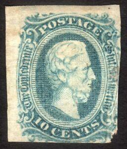 1863, US Confederate States 10c, MNG HR, Sc 11c