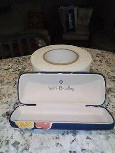 "Vera Bradley Hard Eyeglass Case Summer  Tapestry Print Clamshell Fits Glasses 6"""