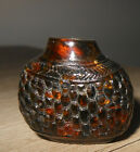 ANTIQUE CHINESE AMBER SNUFF BOTTLE QING DYNASTY