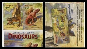 2013 Australia's Age of Dinosaurs - Pair of Stamps from $12.00 Booklet