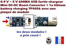 Mini usb 5v 1a lithium  module lipo chargeur pour Arduino tp4056 +  Mini DC-DC !
