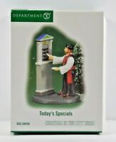 Department 56 Today's Specials Christmas in The City Series Accessory #59458 NOB