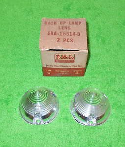 1958 Ford Ranch Wagon Del Rio Country Sedan Squire NOS LH+RH BACK UP LAMP LENSES
