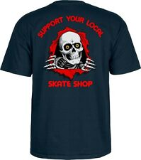 Powell Peralta RIPPER 2 SUPPORT YOUR LOCAL SKATESHOP Shirt NAVY MEDIUM