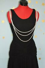 80s does 40s  ruched   fitted  vintage dress