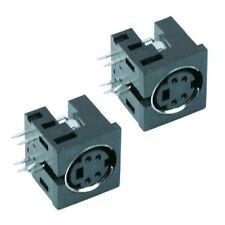2 x 4-Way PCB DIN Mini Socket Audio Connector