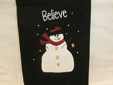 "Black "" Snowy Nights "" Dish Kitchen Towel 28"" x 19"" Chrismas Winter Dish Towel"
