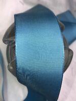 "10 yard roll 1/"" seafoam vintage rayon grosgrain ribbon millinery hat 110"