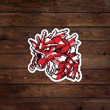 8-Bit Red Gyarados (Pokemon) Decal/Sticker