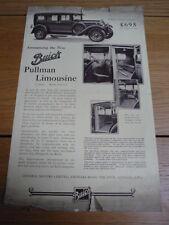 BUICK PULLMAN LIMOUSINE CAR SALES BROCHURE jm