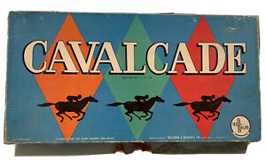 Vintage 1957 Cavalcade Horse Racing Board Game by Selchow & Righter Co., Rare