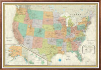 32x50 Rand McNally Style United States/US/USA Classic Framed Wall Map by RMC
