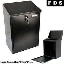 LARGE OUTDOOR STEEL LOCKABLE/LOCKING HOUSE MAILBOX/POSTBOX LETTER/MAIL/POST BOX