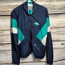Vintage Champion Notre Dame Mens Size Medium Full Zip Nylon Windbreaker Jacket