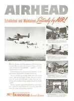 1950 Fairchild Aircraft Ad Packet Planes C-82 C-119 Exercise Swarmer Air Drop