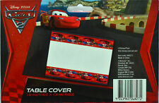 DISNEY CARS 2 PARTY SUPPLIES TABLE COVER 1.8 X 1.3 METERS PLASTIC TABLECLOTH