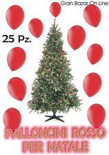 NATALE PALLONCINI ROSSO 25 Pz. 19-20 cm diam 7