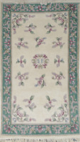3 x 5 HANDMADE ORIENTAL RUG AUBUSSON BY INDIPORT (11833)