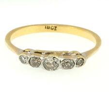 18Ct Yellow Gold & Platinum Old Cut Diamond(0.20ct) Eternity Ring Size (P 1/2)