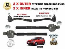 FOR KIA RIO 2005> 2x OUTER + 2x INNER LEFT RIGHT STEERING TRACK RACK TIE ROD END