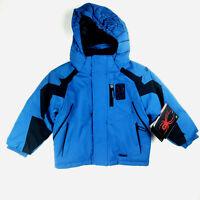 SPYDER Little Kids' MINI LEADER Ski JACKET Blue Black Boys Girls Unisex