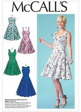 MCCALLS M7117 UNCUT PATTERN SIZE 14-22 FITTED & FLARED ROCKABILLY DRESS